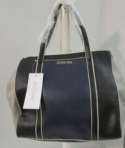 Kenneth Cole Reaction Charlie Navy/Black/Dove Faux Leather Tote