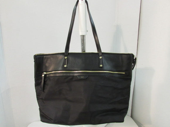 Tutilo New York Woman's Business Bag Black Nylon Large Tote