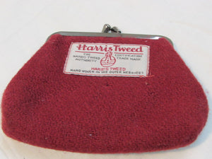 Harris Tweed Coin Purse Red