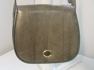 Canadian Genuine Salmon Leather Grey and Brown Crossbody