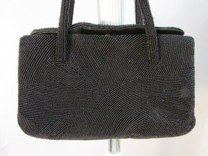 Walborg Black Beaded Handbag