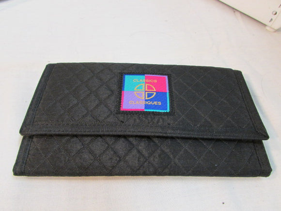 Classics Black Quilted Canvas Organizer Wallet