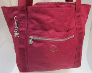 Kipling Red with Black Speckles Synthetic Large Tote