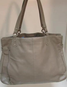 Perlina New York Taupe Leather Large Tote