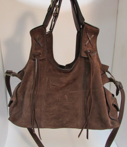 Francesco Biasia Brown Suede Satchel