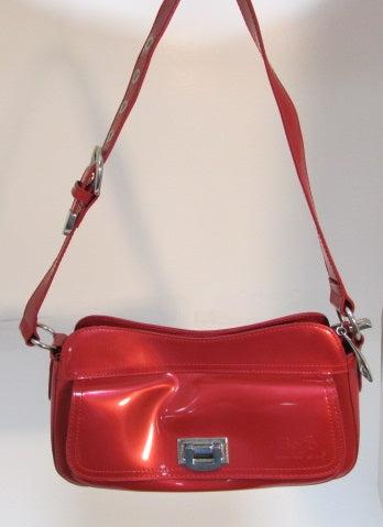 Beijo Red Vinyl Shoulder Bag - NWT