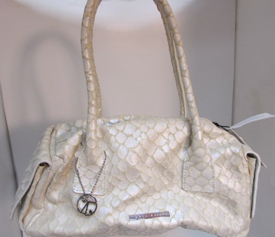 Coccinelle Hand Crafted Cream Leather Handbag - NWT