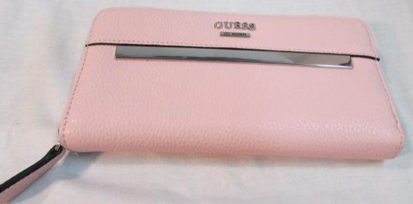 Guess Pink Pebble Leather Wallet