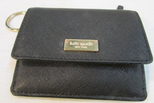 Kate Spade Black Coated Leather Card Case