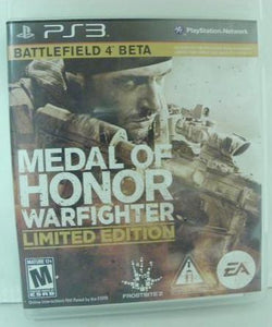 PS3 Medal Of Honor Warfighter Limited Edition w/Battlefield 4 Beta