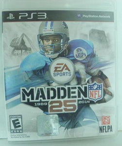 PS3 Madden NFL 25 1989 - 2014