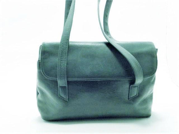 Tignanello Genuine Leather Green Shoulder Satchel