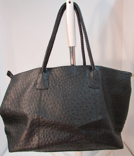 Maya Reyes Black Polka Dot Leather Tote
