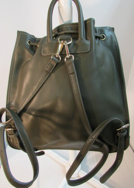 Moda Luxe Margo Olive Green Drawstring Leather Backpack
