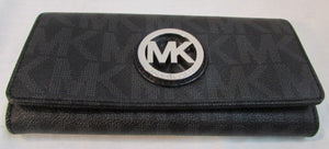 Michael Kors Black Coated Leather Wallet
