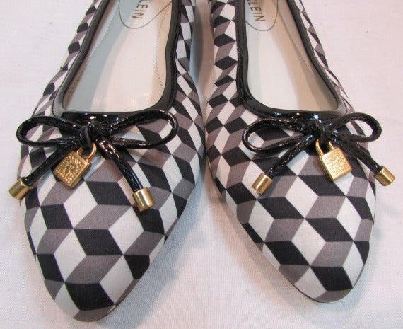 Anne Klein Black & White Flats