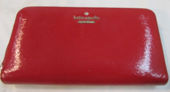 Kate Spade Red Leather Jackson Large Continental Wallet