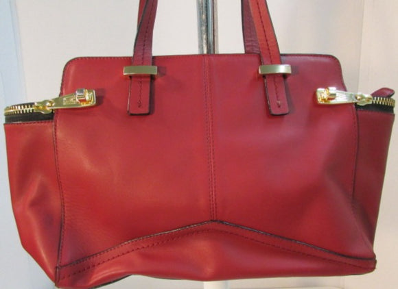 Antonio Melani Red Leather Shoulder Bag