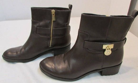 Michael Kors Brown Leather Ankle Boots
