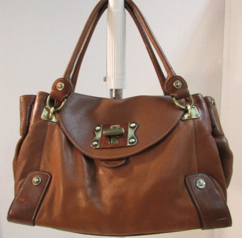 Cromia Made in Italy Brown Leather Shoulder Bag