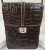 Brighton Brown Leather Flap Crossbody