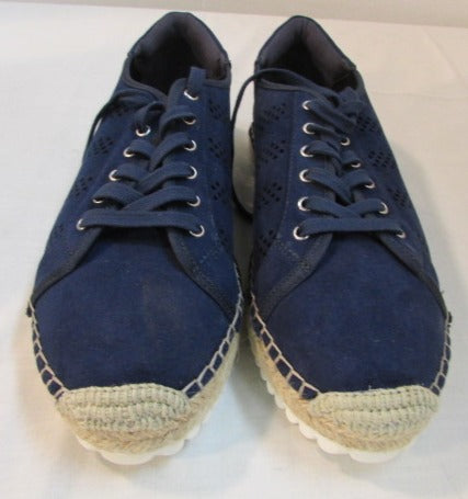 Marc Fisher Baila Dark Blue Fabric Shoes