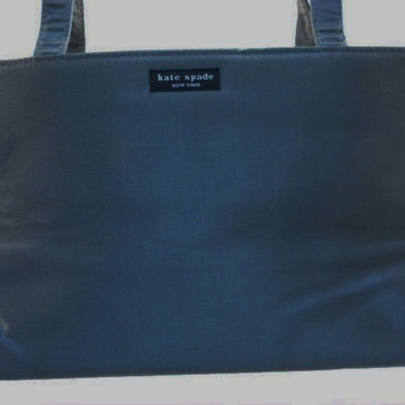 Kate Spade Gray Double Strap Nylon Sam Tote