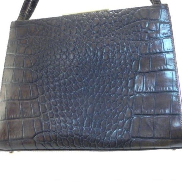 Sharif Burgundy Reptile Leather Kelly Bag