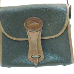 Dooney & Burke Green and Brown Crossbody Purse