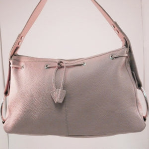 Guia's Made in Italy Peach Leather Shoulder Bag