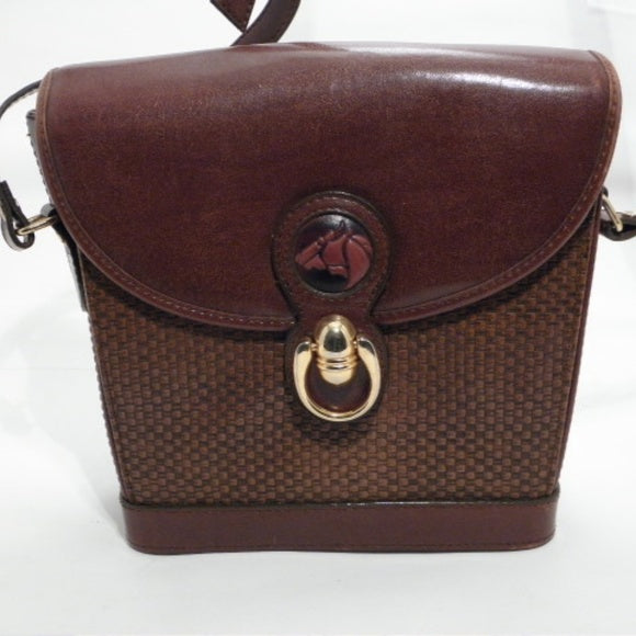 CIA New Wealth Trading Inc Brown Vinyl Crossbody