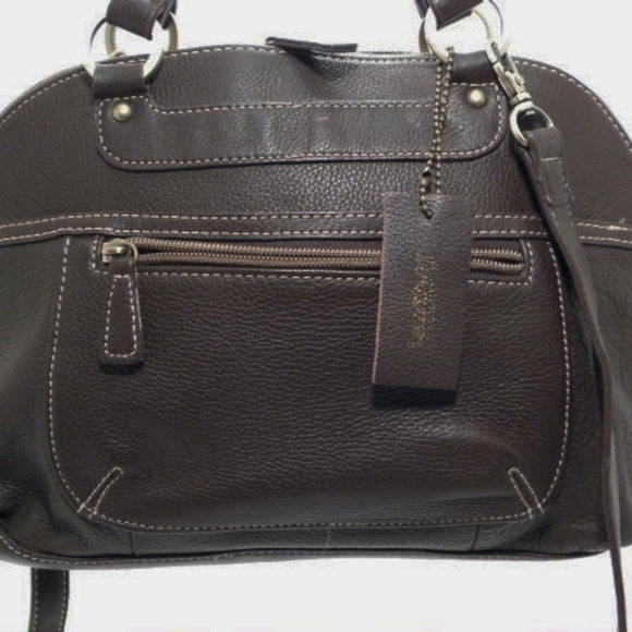 Croft & Barrows Brown Pebble Leather Satchel