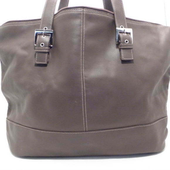 Tigbags X-Tra Large Brown Leather Shoulder Bag