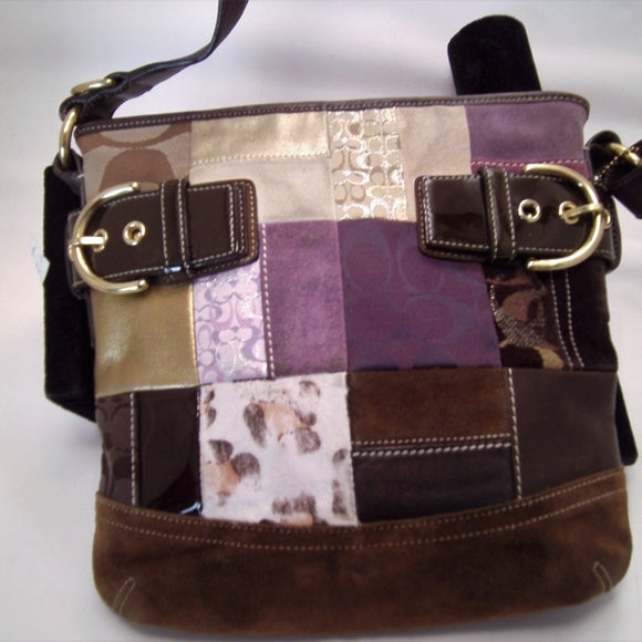 Coach Limited Edition Holiday Patchwork Shoulder