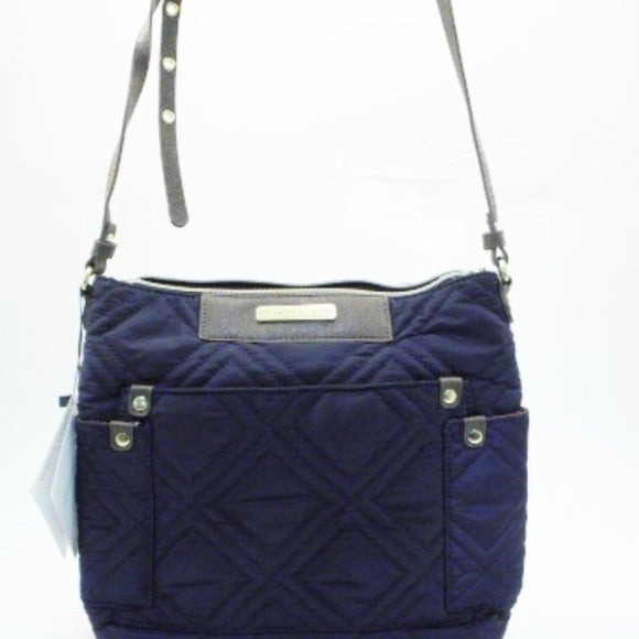Adrienne Vittadini Navy Blue Quilted Crossbody Bag