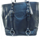 Coach Black Gallery Tote with Silver Hardware