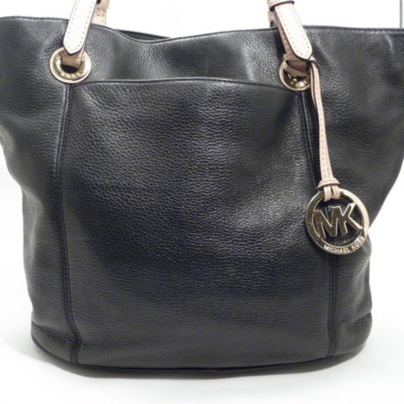 Michael Kors Black Pebble Leather Tote