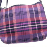 Coach Poppy Canvas Multicolor Plaid Crossbody Bag