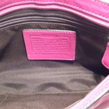 Coach Hot Pink Leather Over-sized Clutch 10""