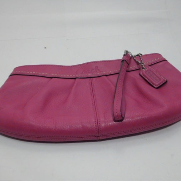 Coach Hot Pink Leather Over-sized Clutch 10