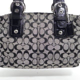 Coach Black SOHO Signature Jacquard Satchel