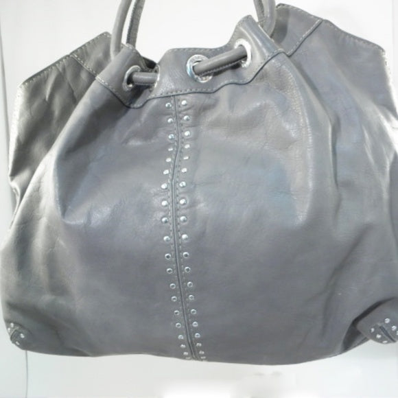 Michael Kors Large Gray Astor Studded Ring Tote