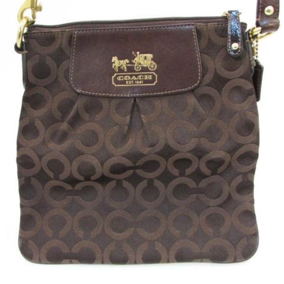 Coach Brown 109 Madison Op Art Crossbody