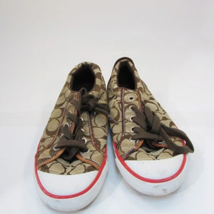 Coach Sneakers Canvas Signature Brown/Tan
