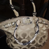 **GORGEOUS** Coach Madison Op Exotic Python Embossed Satchel