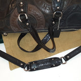 **GORGEOUS** Coach Ashley Brown and Black Satchel