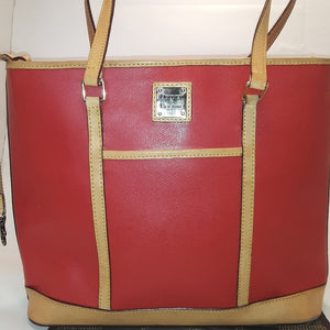 Dooney & Bourke 1975 Red Leather Tote