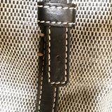 Dooney & Bourke Black and Grey Coated Canvas Satchel
