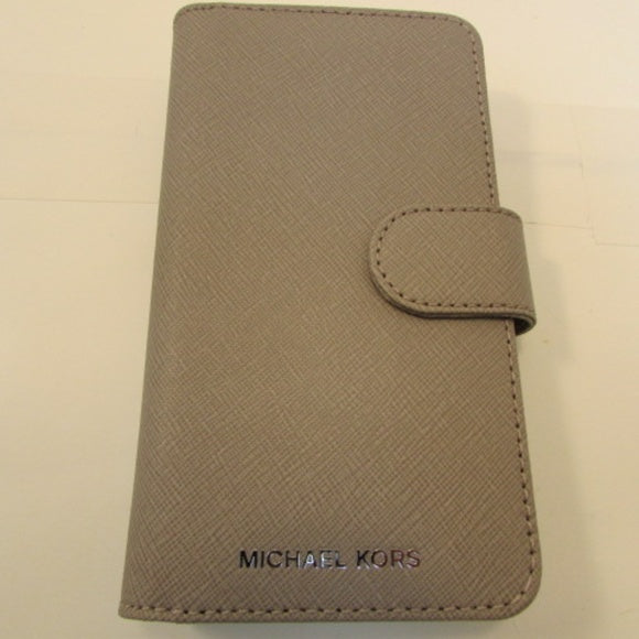 Michael Kors Pearl Grey Leather iphone X case