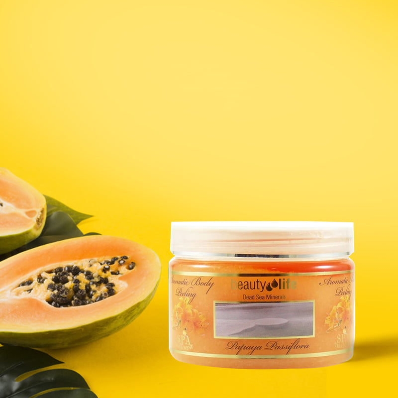 Aromatic Body Peeling Papaya Passiflora 450 gr - Aroma Dead Sea